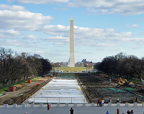 Washington Mall reflection pool renovation